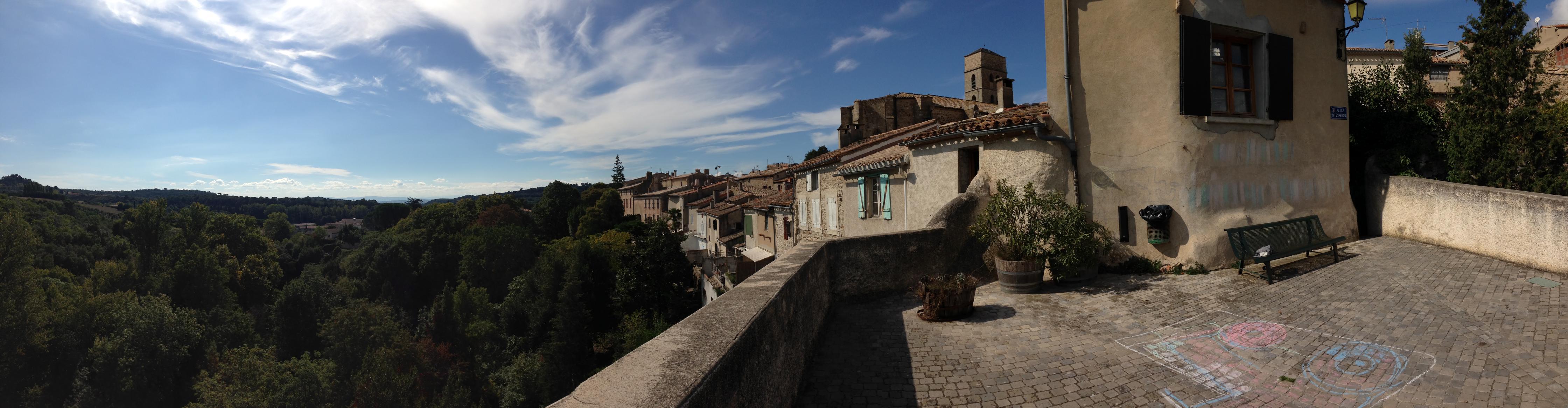 A view fromPlace Esperou Montolieu